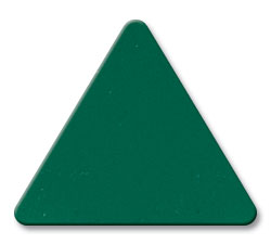 Cut Dark Green (2030) Acrylic Color Triangle as Color Sample