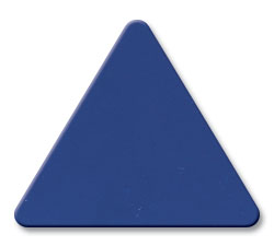 Cut Dark Blue (2050) Acrylic Triangle as Color Sample