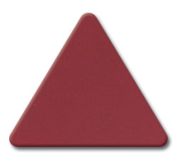 Cut Maroon (2240) Acrylic Triangle as Color Sample