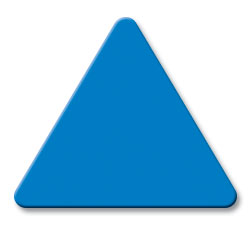Cut Light Blue (2648) Acrylic Triangle as Color Sample