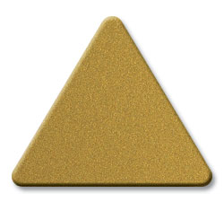 Cut Metallic Gold (2756) Acrylic Color Triangle as Color Sample