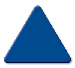 Cut Medium Blue (2860) Acrylic Triangle as Color Sample