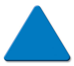 Cut Blue (3000) Acrylic Triangle as Color Sample