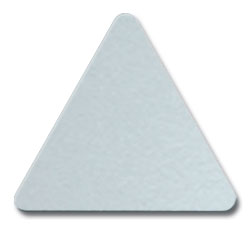 Cut Platinum (8807) Acrylic Color Triangle as Color Sample