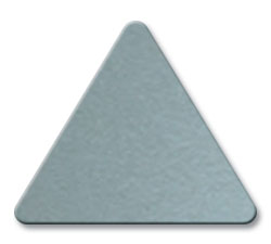 Cut Metallic Silver (8886) Acrylic Color Triangle as Color Sample