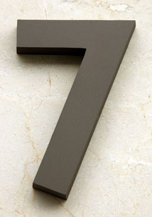 Gil Sans Bold House Number in Medium-Bronze Anodized Aluminum